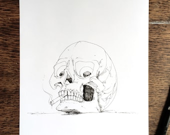 Smoking is Deadly - Hand Drawn A4 Illustration