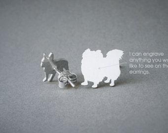 PEKINGESE LONGHAIRED NAME Earring - Pekingese Name Earrings - Personalised Earrings - Dog Breed Earrings - Dog Earring