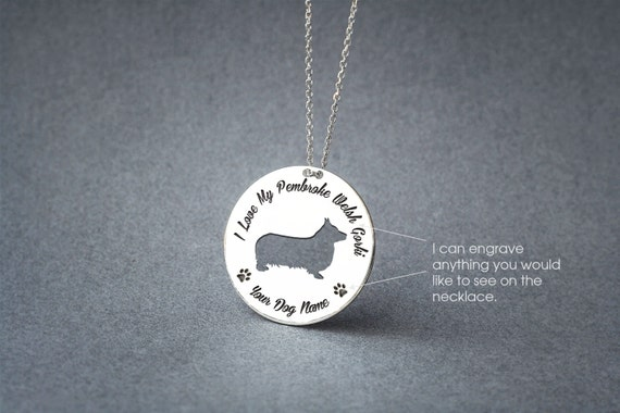 Beautiful Sterling silver 925 sterling Sterling Silver Rhodium-plated Welsh Corgi Disc Charm