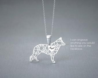 Personalised GERMAN SHEPHERD Necklace • German Shepherd • Name Necklace • Personalised Necklace • Custom Necklace • Shepherd necklace • Dog