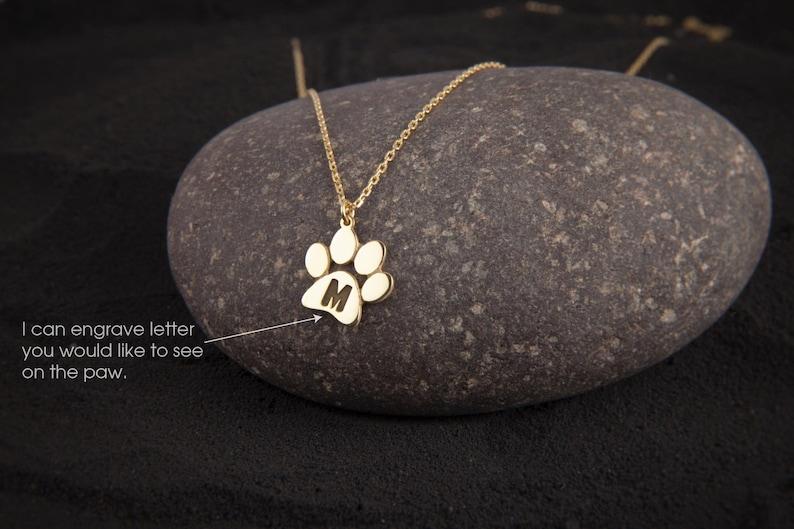 Medium Paw Print Necklace \u2022 Paw Necklace \u2022 Dog Paw \u2022 Cat Paw \u2022 Paw Print Necklace \u2022 Paw Jewelry \u2022 Paw Print \u2022 Silver Necklace \u2022 Jewelry