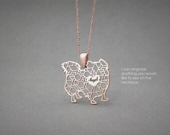 Personalised LONGHAIRED PEKINGESE Necklace - Pekingese name Jewelry - Dog Jewelry - Dog breed Necklace - Dog Necklaces