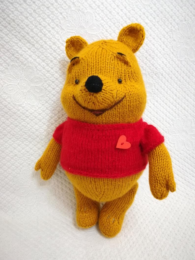 c52f88b91a78 Winnie the Pooh Teddy bear Winni knitted Handmade toys Winni
