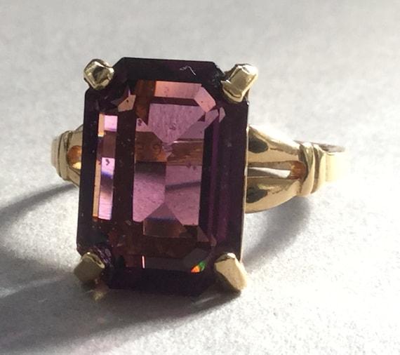 Glass-like Ring Purple Size 6