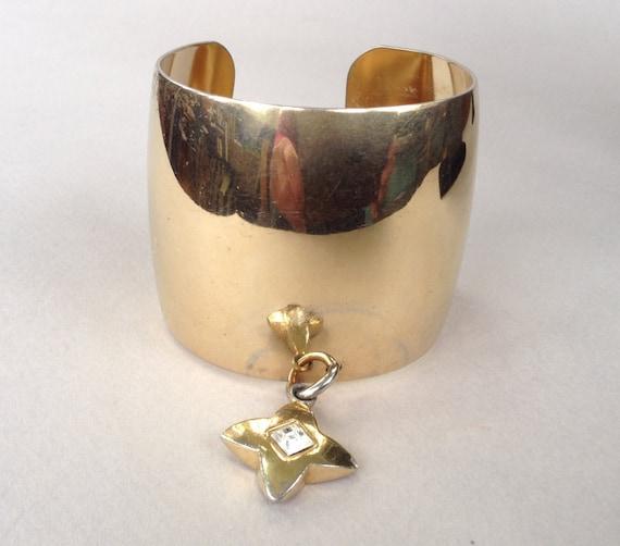Givenchy Gold Tone Cuff Bracelet