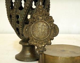 Vintage Clock Pendulum, Brass Pendulum for Wind Up Clock, Metal Pendulum, Wall Clock Pendulum, Ornate Clock Part, Old clock part
