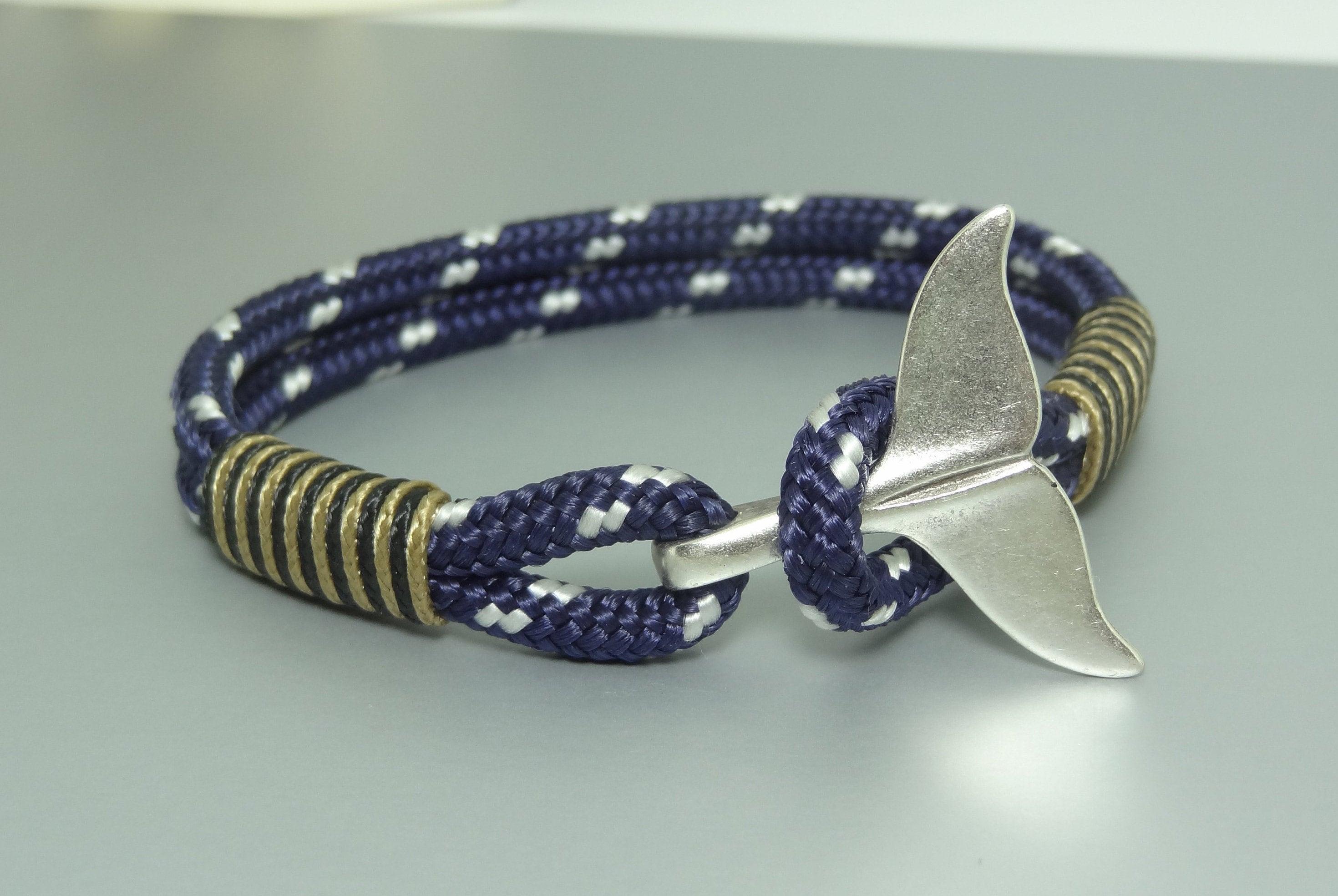 Wal Schwanz Armband Herren Seil Armband blaue Paracord | Etsy