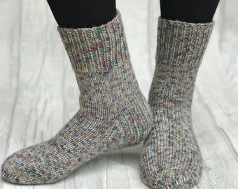 1d64748e0ff Hand Knit Men Socks - Wool Socks Men - Hand Knit Socks for Man - Hand Knit  Socks for Adult - Christmas Socks for Man - Slipper Socks Men
