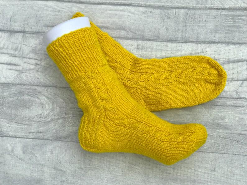 e9a7f050de8 Wol sokken mannen - gele sokken - Hand gebreide wollen sokken - wollen  sokken - Hand gebreide mannen sokken - kerst sokken voor mannen - Winter  sokken