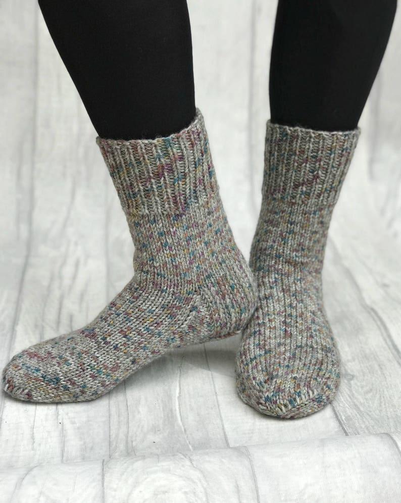 bed410b4c441b Hommes tricot chaussettes chaussettes tricot à la main | Etsy