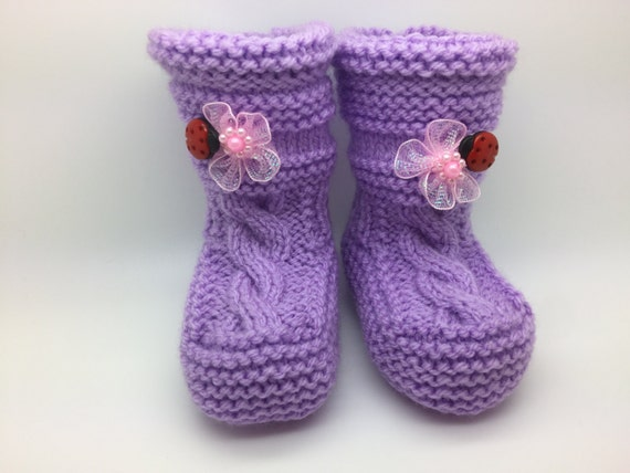 Knitted Baby Booties - Knitted Baby Shoes - Newborn Booties - Knitted Baby Socks - Newborn Shoes - Baby Socks - Baby Shoes - Knitted Booties