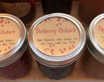 Rhubarb Jam Mix Pack. Strawberry Rhubarb Jam, Blueberry Rhubarb Jam, Apple Rhubarb Jam. Jam trio. Rhubarb Jam Variety Pack. Maine Made.