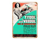 1934 Tydol Gas Veedol Oil at Indy 500 Rep Vintage Look Metal Sign or Matted Print for 11x14 Frame
