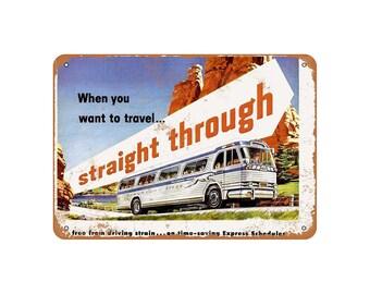 Greyhound bus signs | Etsy
