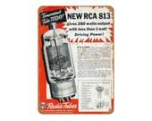 1938 RCA Radio Tubes Vintage Look Metal Sign