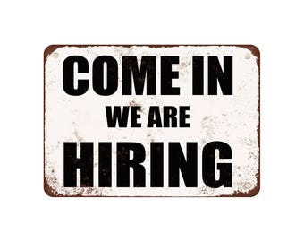 we are hiring signs etsy