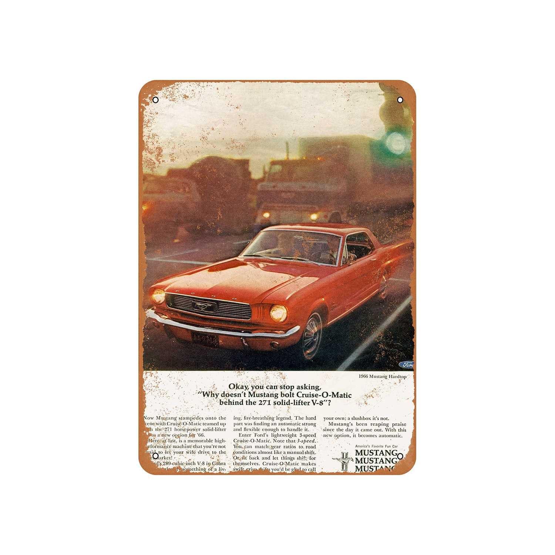 1966 Ford Mustang Vintage Look Metal Sign