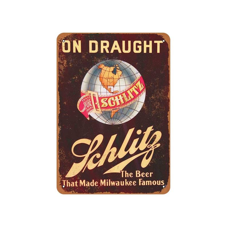 Schlitz beer decorative steel sign