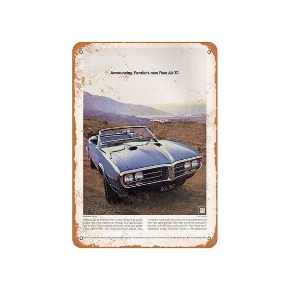 1970 Pontiac Firebird Ram Air Muscle Photo Classic Cars Print Vintage Poster