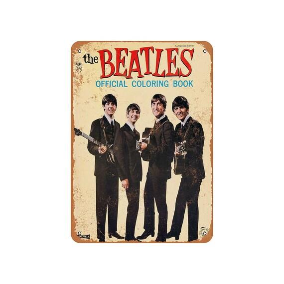 - 1964 Beatles Coloring Book Vintage Look Metal Sign Etsy
