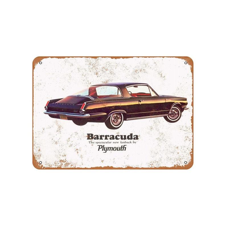 1964 Plymouth Barracuda 2 Vintage Look Metal Sign