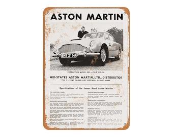 1966 James Bond Aston Martin Vintage Look Metal Sign