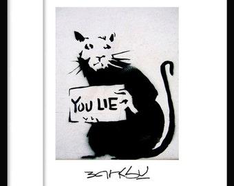 Sie Lie - Banksy - Graffiti-Kunst - street-Art-Drucken poster