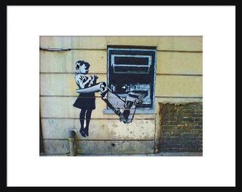 ATM-Roboter Arm - Banksy - Graffiti - Street-Art-Kunstdruck - Poster