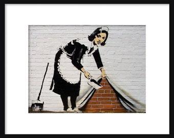 Magd In London - Banksy - Graffiti-Kunst - Street-Art-Print - Poster