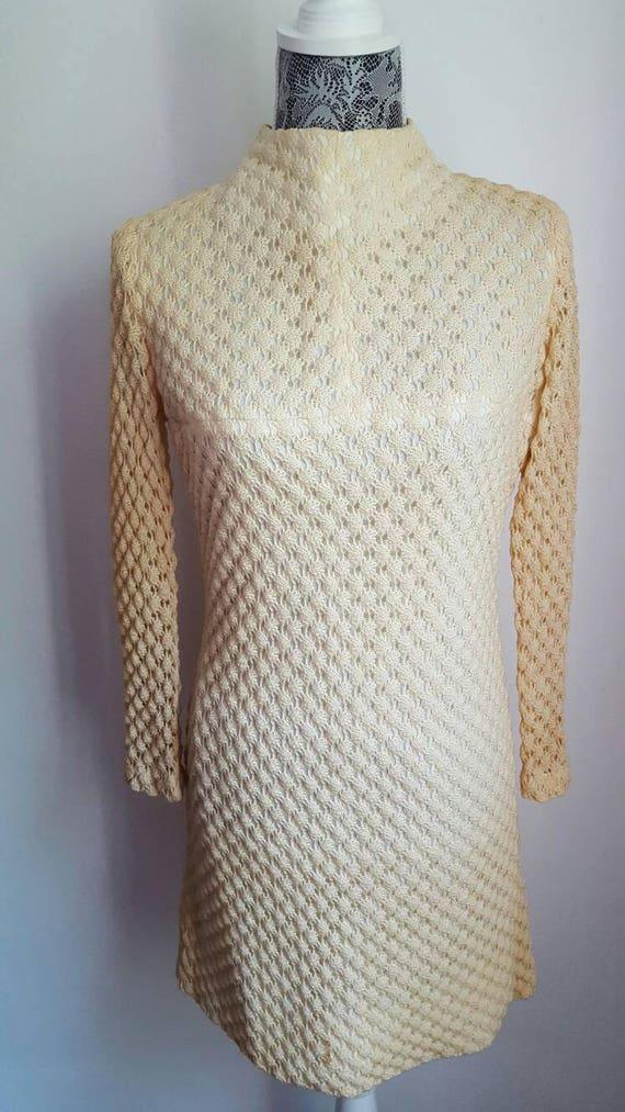 60s mod dress. Vintage 60s dress. 1960s dress high