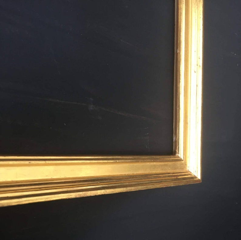 reverse picture frame In 23.5 ct gold leaf . Picture frame Classic water gilded 1 14 inch 35mm
