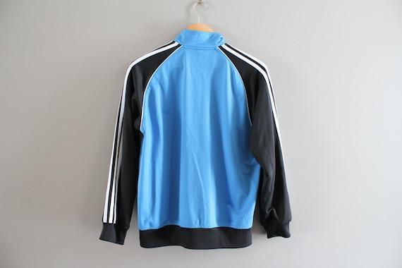 Toddler Adidas Jacket Navy Blue 3 Stripes Boy Adidas Zip Up Jacket Track Jacket 90s Vintage Size 12 18 months #C065A