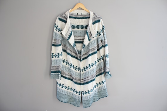 Cotton Knitted Long Cardigan Knitted Coat Nordic S