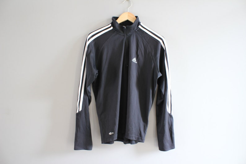 Adidas T shirt Adidas Pullover Black Xtreme Volleyball Adidas Long Sleeves Adidas Active Wear Tshirt Vintage 90s Size M