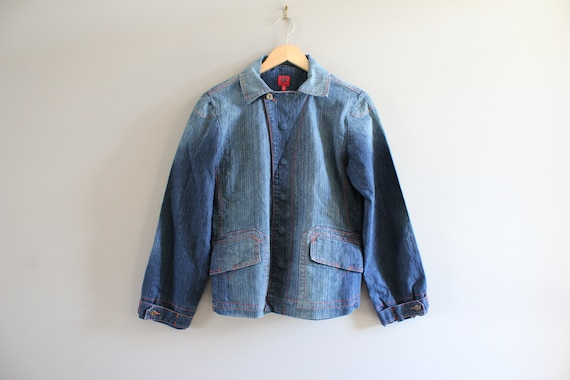 Size L-XL Miss Sixty Washed Denim Blazer Blue Jean