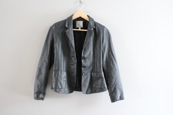 Size XS Genuine Leather Black Blazer Jacket Genuin