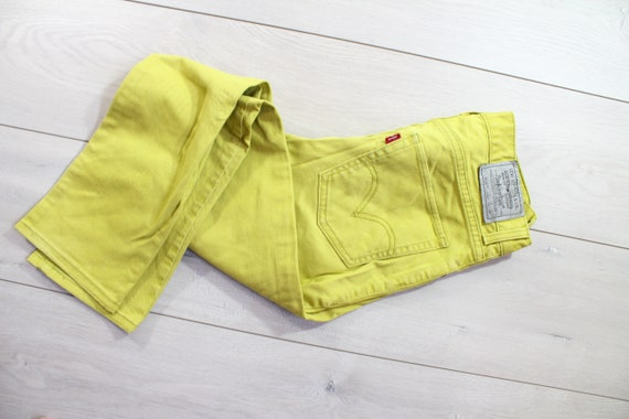 waist 30 Levis 510 mustard yellow skinny fit low w