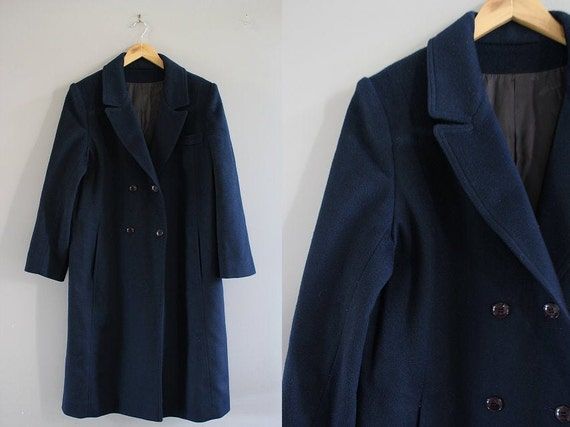 Holt Renfew Pure Virgin Wool Long Coat Royal Blue