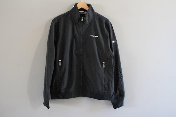 Size L Tommy Hilfiger Black Jacket Tommy Big Logo