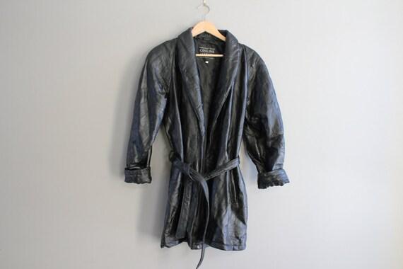 Size M-L Italian Genuine Leather Black Jacket Genu