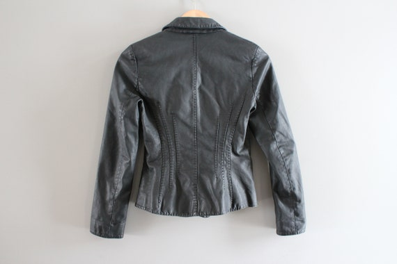 Genuine Leather Black Blazer Jacket Genuine Leath… - image 9