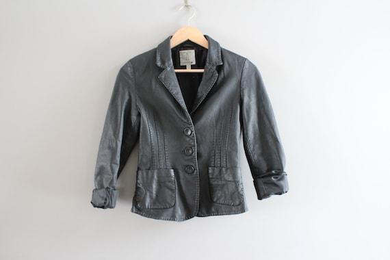 Genuine Leather Black Blazer Jacket Genuine Leath… - image 5