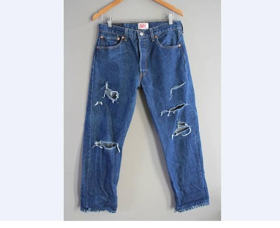 Waist 32  Levis 501 Jeans Levis  Vintage Levi's 50