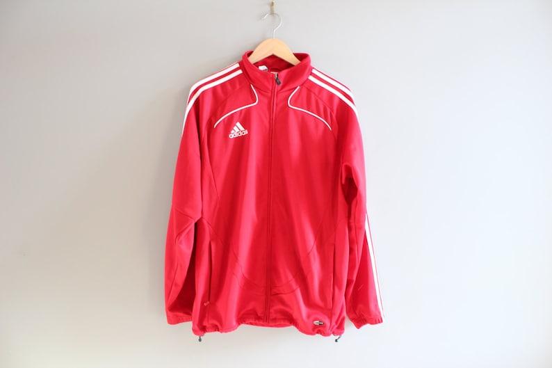 Adidas Jacke 3 Streifen Jersey Lancers Jacke Training Jacke Adidas Track Jacke Trainingsanzug Vintage 90er Jahre Größe M #T103A