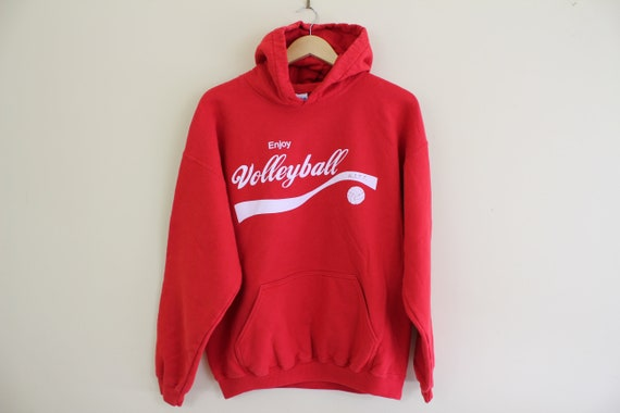 Volleyball Red Hoodie Coka Cola Red Large Hoodie V