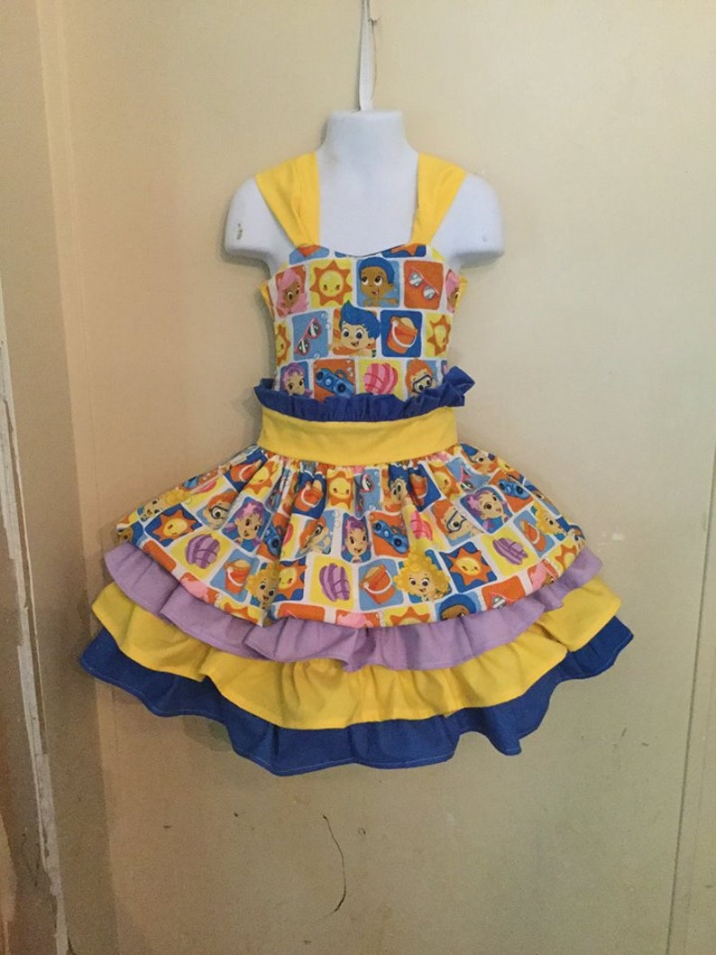 Bubble guppies, bubble guppies dress, bubble guppies party, party dress,  romper, girls dress, pageant dress, pageant ooc