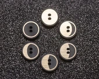 BUTTONS : Black Moon *