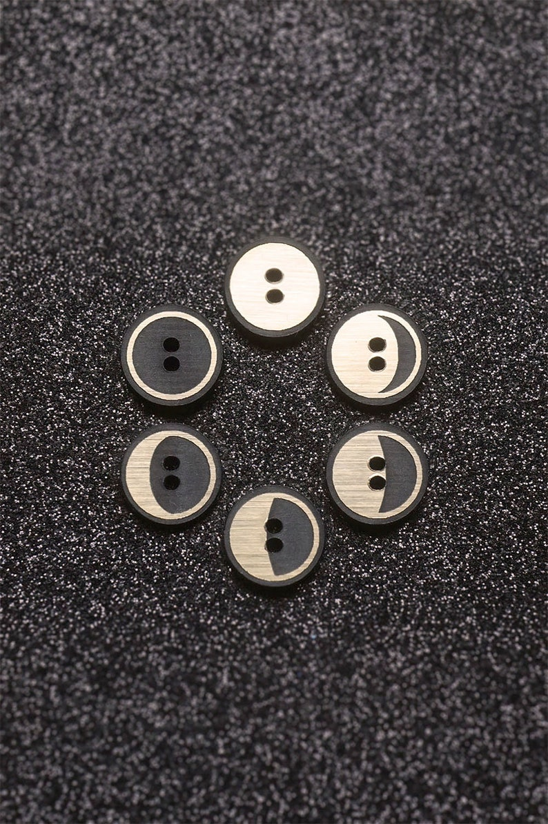 12x The Moon Phases Buttons moon phases moon cycle lunar image 0
