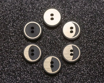 The Moon Phases Buttons (Set of 6)