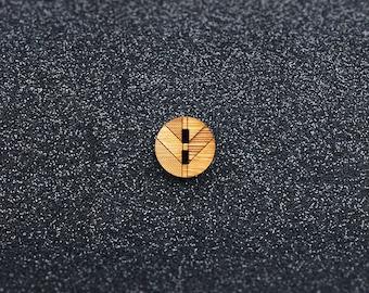 The Chevron Button - Small (Set of 6)